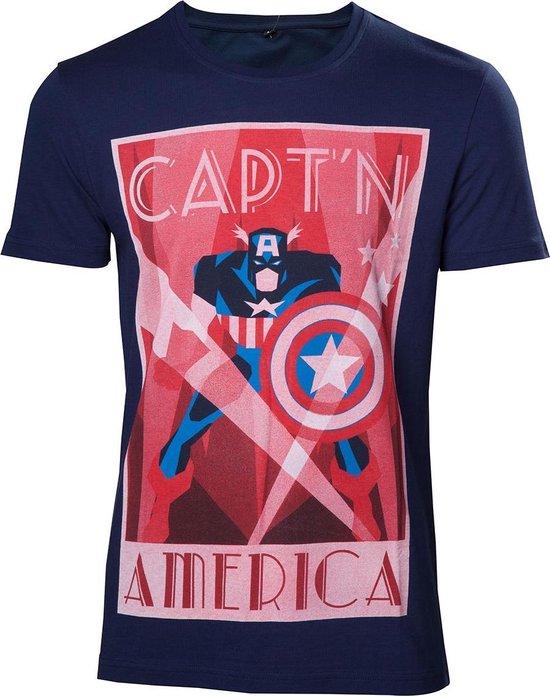 Marvel - Capt'n America Heren T-shirt - XL
