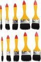 Benson Professionele 10-delige Platte Kwasten Set – 25x20x1cm | Voor Professioneel Schilderen en Oliën