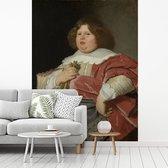 Fotobehang vinyl - Portret van Gerard Andriesz Bicker - Schilderij van Bartholomeus van der Helst breedte 250 cm x hoogte 340 cm - Foto print op behang (in 7 formaten beschikbaar)