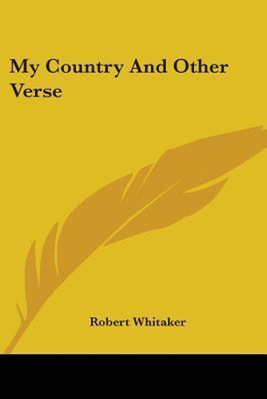 My Country and Other Verse