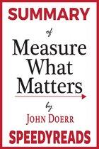 Boek cover Summary of Measure What Matters van Speedy Reads