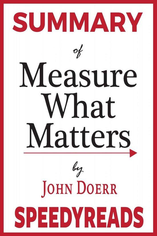 Boek cover Summary of Measure What Matters van Speedy Reads (Onbekend)