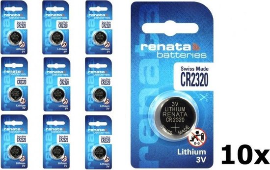 10 Stuks - Swiss Made CR2320 Renata lithium knoopcel batterij