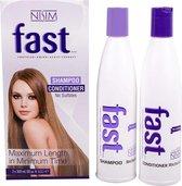 Nisim Fast Hair Kuur - Haargroei versnellende kuur - Sulfaat- en parabeenvrij - 2 x 300ml