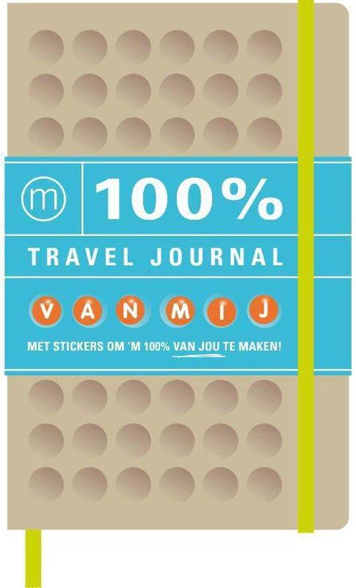 Cover van het boek '100% travel journal' van  Nvt