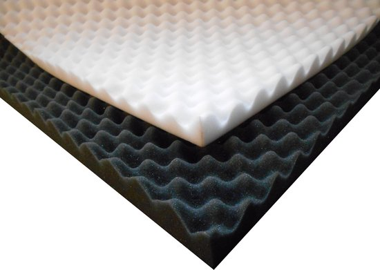 Geluidsisolatieplaten  noppenschuim (antraciet) 200x100x2CM, 3 stuks, 6m². DE GOEDKOOPSTE OP BOL.COM.