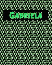 120 Page Handwriting Practice Book with Green Alien Cover Gabriela