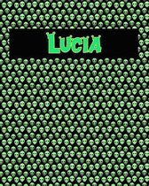 120 Page Handwriting Practice Book with Green Alien Cover Lucia