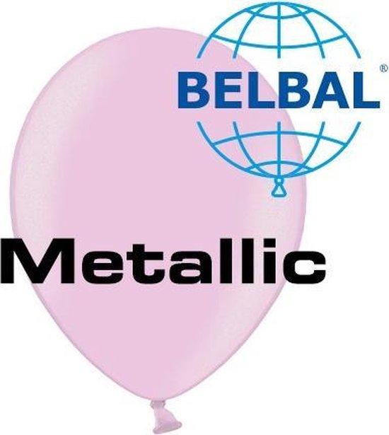 Ballonnen Metallic Pink D5 11 cm 100 stuks (Geen helium)