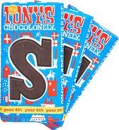 Tony's Chocolonely Letterreep S - Puur - 3 x 180 gram