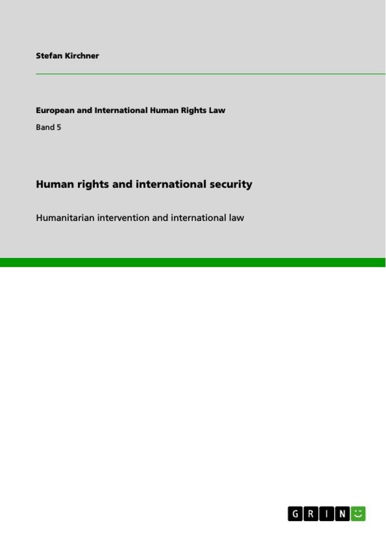 Omslag van Human rights and international security