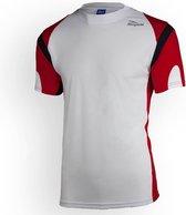 Running T-Shirt Dutton Wit/Rood/Zwart L