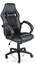 Premium Gaming Chair Bureaustoel - Zwart - Kunstleer - Verstelbaar