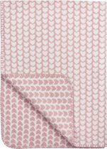 Meyco Knitted Heart Ledikantdeken - 120x150cm  - roze