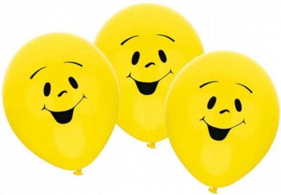 Riethmüller  Smiley feest ballon geel Ø 22 cm - Set-6