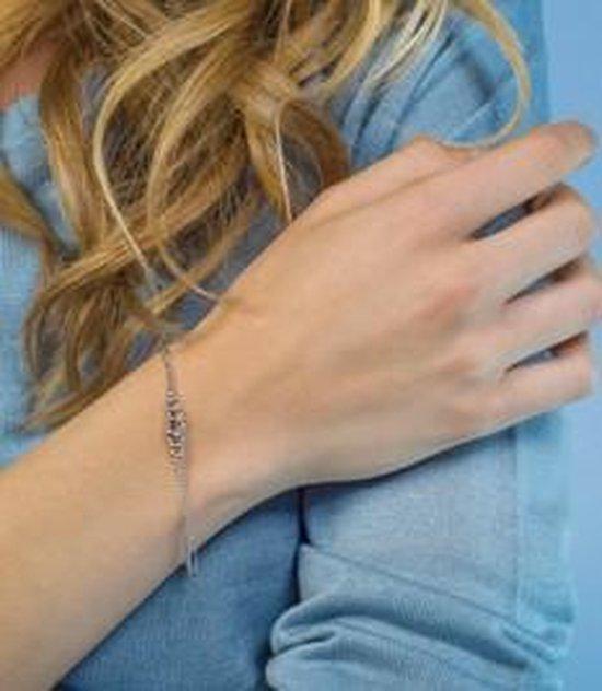 Zinzi Jewels Zilveren Armband  (Lengte: 17.00-20.00 cm) - Zilver