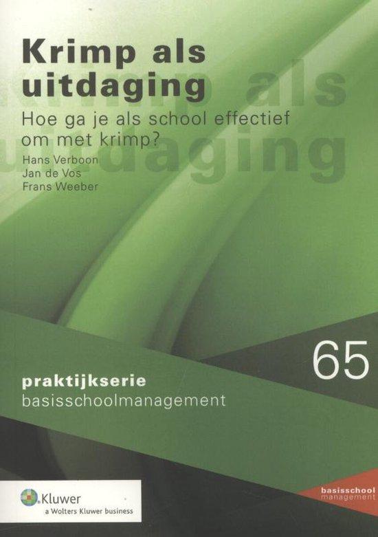 Praktijkserie BasisschoolManagement 65 - Krimp als uitdaging - Hans Verboon   Fthsonline.com