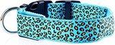Pakketexpert Led Lichtgevende Hondenhalsband - Blauw - 43-60 cm