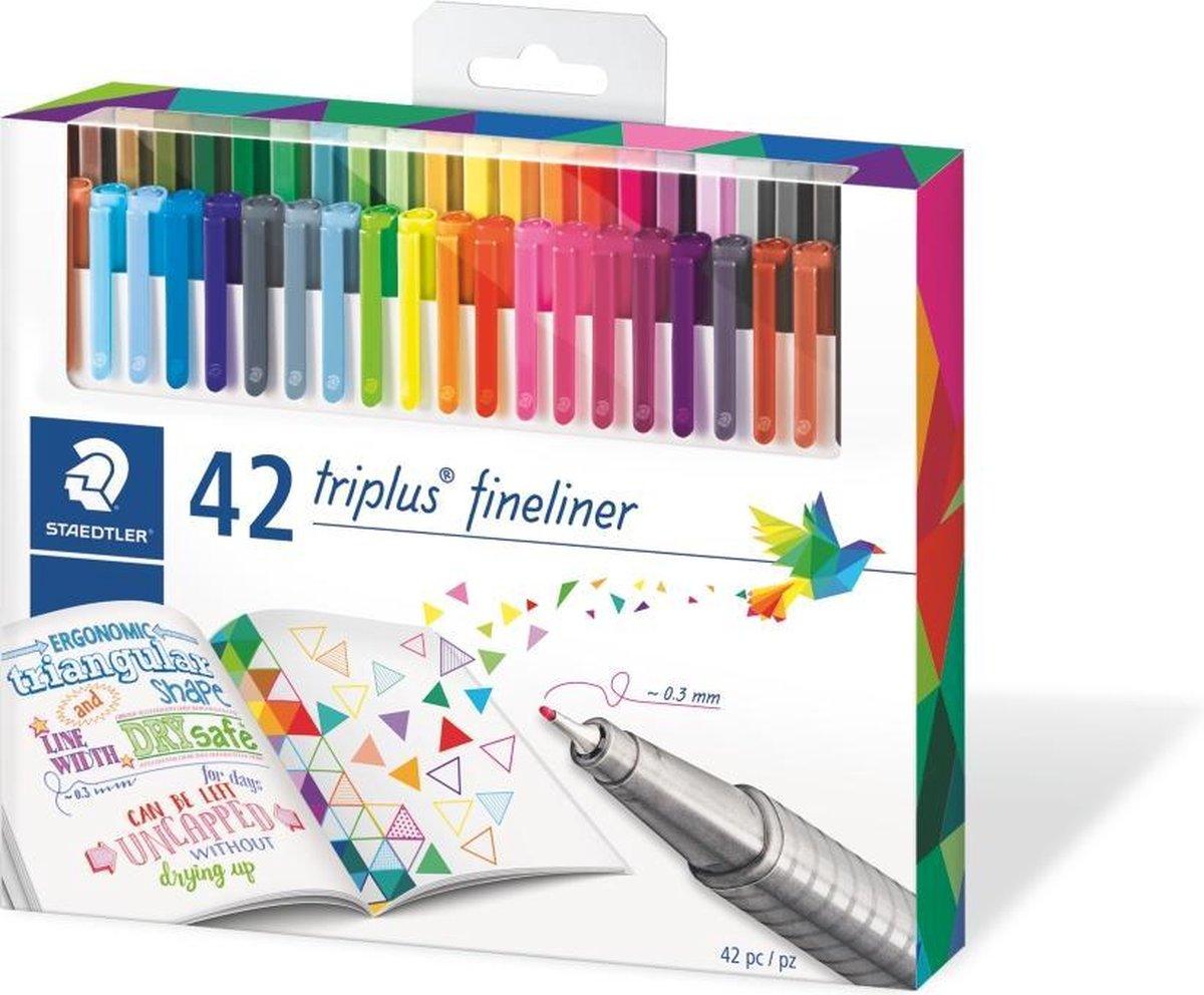 Triplus fineliner - etui - 42 stuks - STAEDTLER