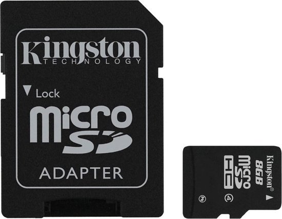 Kingston MicroSDHC 8GB  - Class 4