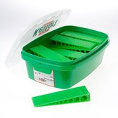 Wig groen 150 x 45 x 25mm doos van 16 wiggen