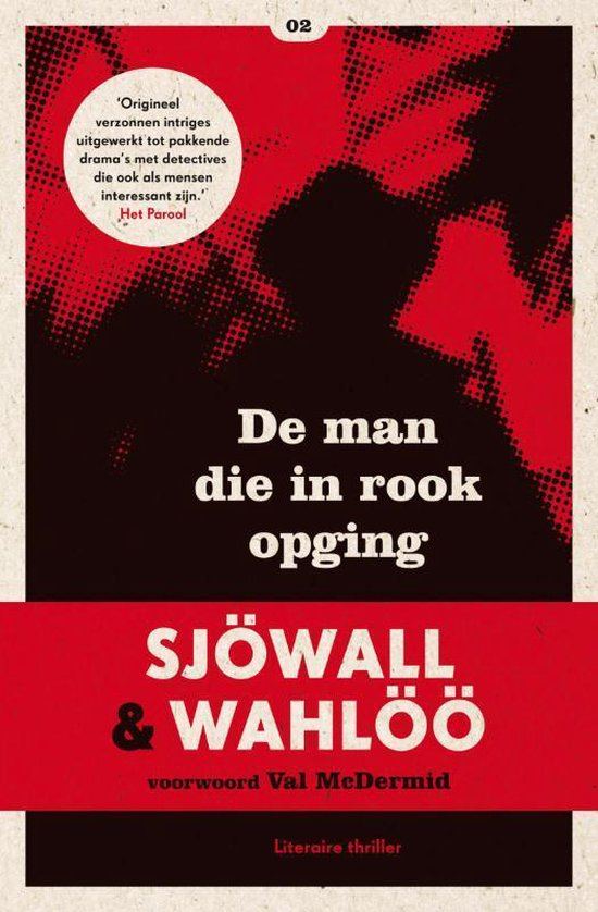 Cover van het boek 'De man die in rook opging' van Maj Sjöwall