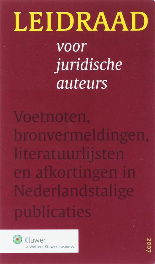 Leidraad Voor Juridische Auteurs - none |
