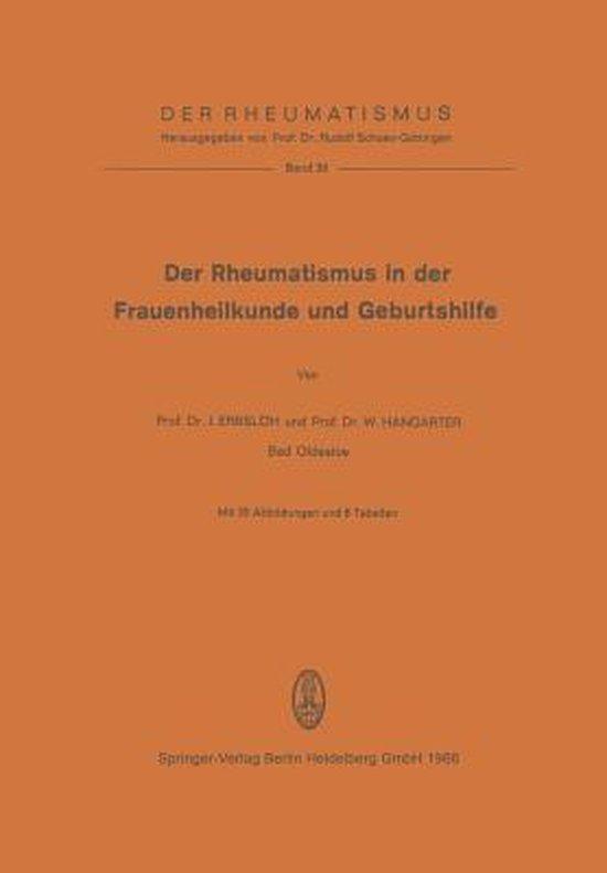 Der Rheumatismus in Der Frauenheilkunde Und Geburtshilfe