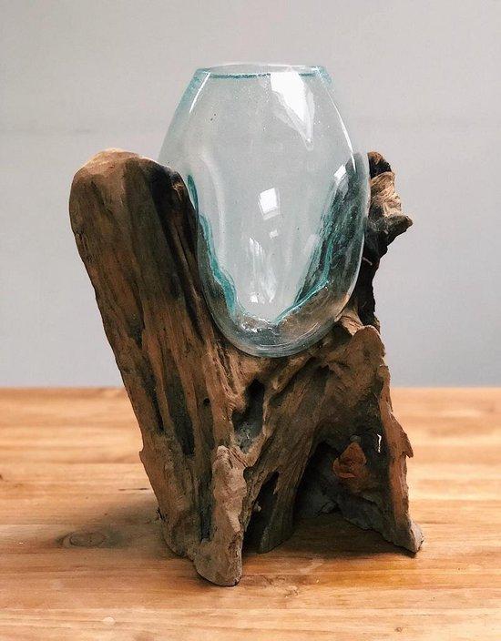 Bol Com Stoere Landelijke Houten Design Decoratie Dory Lumbuck Glas Hout
