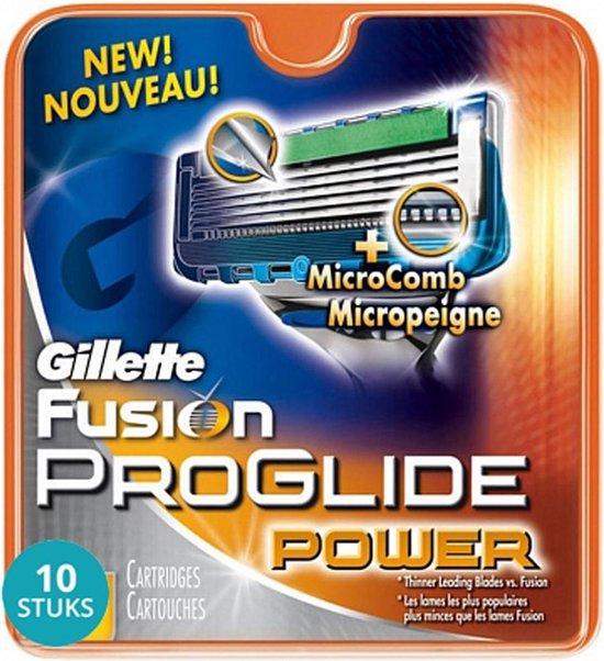 Gillette Fusion Proglide Power Scheermesjes Voordeelverpakking 10x8 stuks