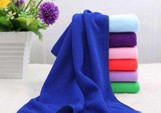 Handdoek microfiber voor sport of op reis! Supersnel drogend materiaal. (X-Large 140x70cm) kleur blauw