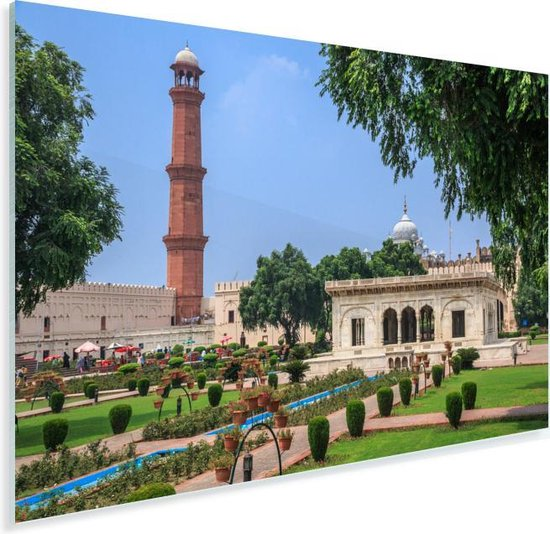 De binnenplaats het oude Fort Lahore in Pakistan Plexiglas 120x80 cm - Foto print op Glas (Plexiglas wanddecoratie)
