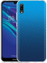 Huawei Y6 2019 Hoesje lichtblauwe cirkels
