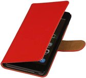 Huawei Ascend Y540 Hoesje - Rood Effen - Book Case Wallet Cover Hoes