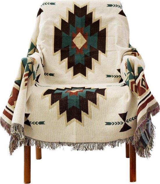 Rawhouse Plaid Geweven geometrisch tapijt – Bankhoes - Bohemian plaid