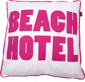 In The Mood Beach Hotel - Sierkussen - 50x50 cm - Fuchsia