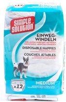 Simple Solution Wegwerp Honden Luier - MEDIUM 12 ST 41-53 CM