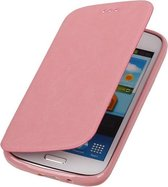 Polar Map Case Licht Roze Huawei Ascend G510 TPU Bookcover Hoesje