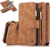 CaseMe iPhone 7/8 Luxe Portemonnee Hoesje - uitneembaar met backcover (bruin)