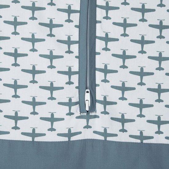 Taftan - Slaapzak Winter - Vliegtuigjes - 70 / 90 cm - grijs blauw