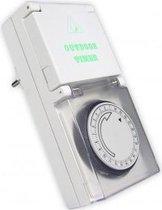 Calex waterdichte IP44 wandcontactdoos timer 24H