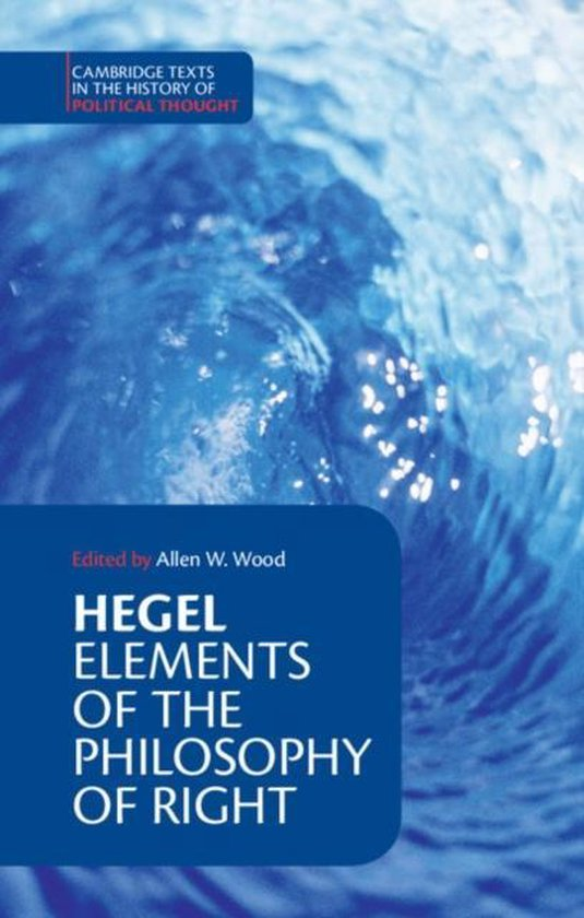 Boek cover Cambridge Texts in the History of Political Thought van G.W.F. Hegel (Paperback)