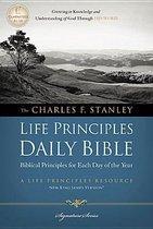 NKJV, Charles F. Stanley Life Principles Daily Bible, Paperback