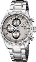 Festina F16759/2 Chronograaf - Horloge - Staal - Zilverkleurig - 43.5 mm