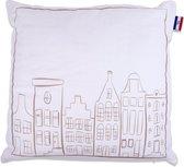 In The Mood Holland House 1 - Sierkussen - 50x50 cm - Kiezel/Ivoor Wit