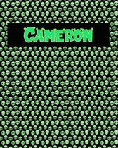 120 Page Handwriting Practice Book with Green Alien Cover Cameron