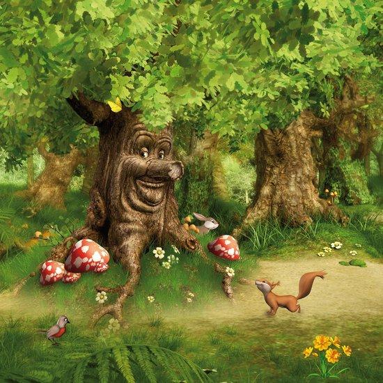 Graham & Brown - Sprookjesboom - Fotobehang - Groen/bruin/rood - 260x200 cm - Graham & Brown