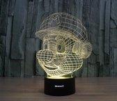 Hewec® Optische 3D illusie lamp Super Mario