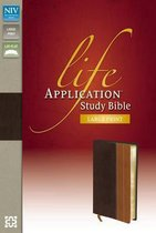 NIV, Life Application Study Bible, Second Edition, Large Print, Bonded Leather, Burgundy, Indexed