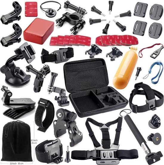 Universele 44-delige Accessoires set voor GoPro / Action Camera's in luxe opbergkoffer